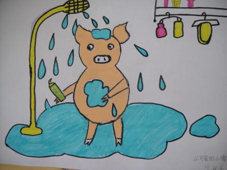 可爱的小猪 儿童画