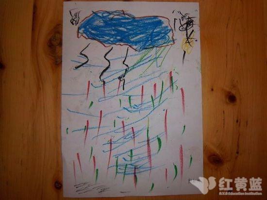绘画 大雨和小雨