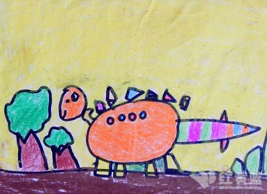 可爱的恐龙 _ 红黄蓝|早教|早教中心