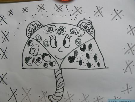 儿童简笔画蘑菇房子