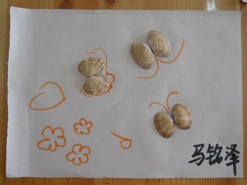 幼儿亲子手工粘贴画图片大全 亲子作品 树叶粘贴画