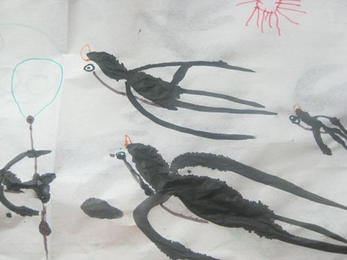 小燕子 国画