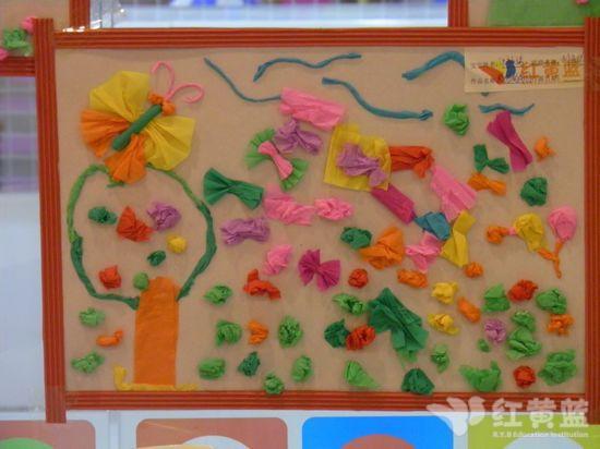 创意纸贴画 _ 红黄蓝|早教|早教中心