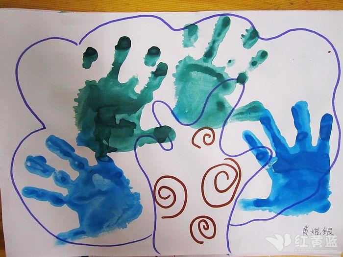 手印画:团结树图片