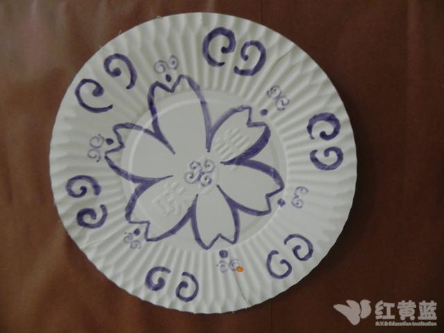 纸盘月饼儿童手工