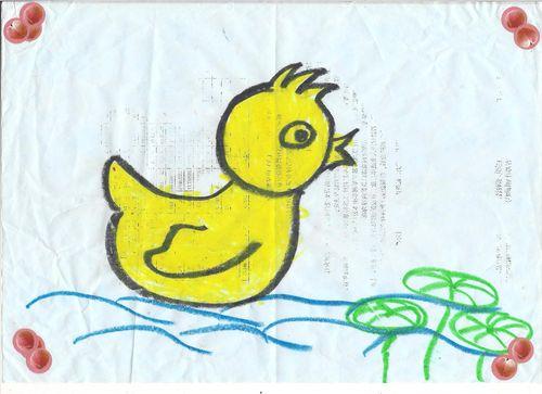 小鸭子-绘画班宝宝真棒
