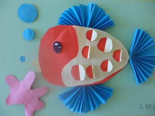 简单折纸小鱼图片; 小鱼折纸画分享;
