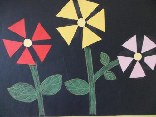 儿童几何图形拼贴画