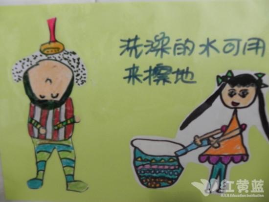 儿童节水宣传画