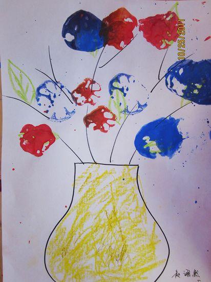 莲藕儿童画
