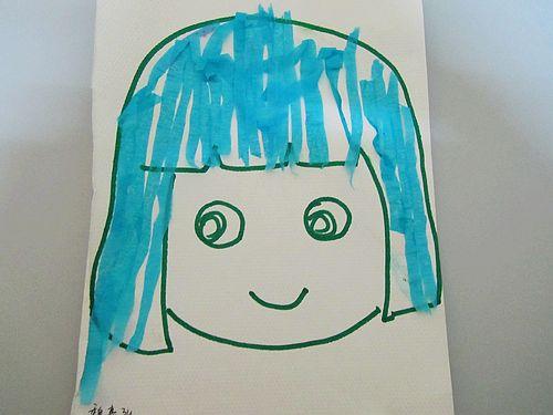 幼儿梳头发步骤简笔画