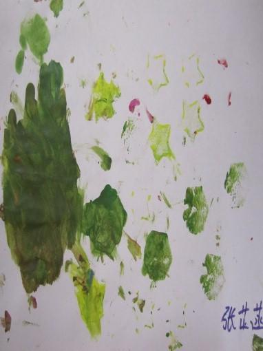 颜料滚画:《美丽的花纹》
