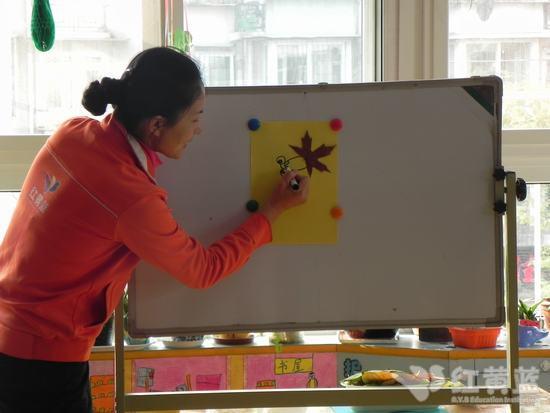 儿童柳树叶粘贴画图片展示