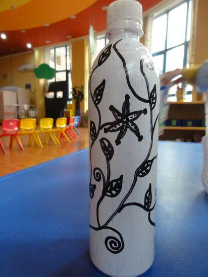 瓶子装饰图案 画在瓶子上的图案瓶子装饰美女图片图片