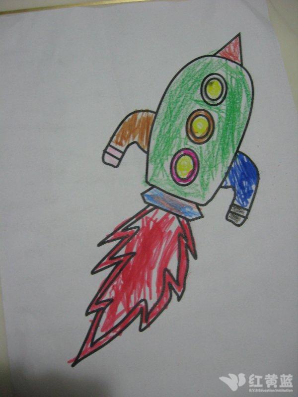 关于火箭的儿童画