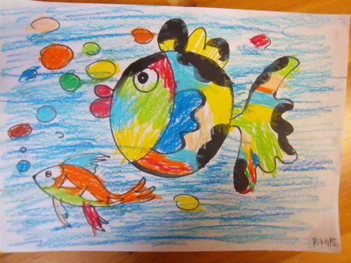 儿童涂色鱼图片/儿童风景简笔涂色画/涂色鱼图片