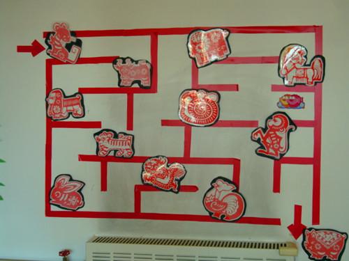 幼儿园墙面迷宫图片