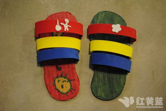 幼儿园鞋子手工