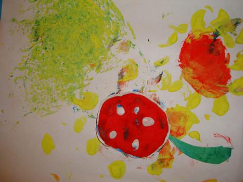 太阳花——创意色彩画