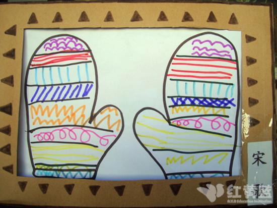 幼儿园线条装饰边框图片