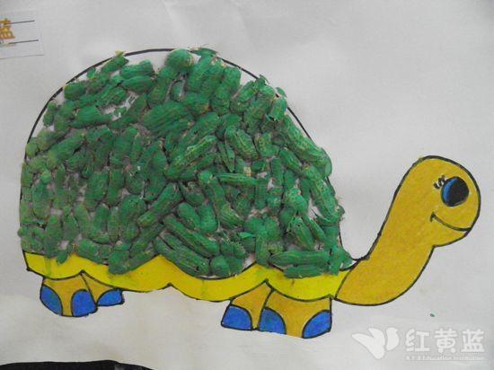 创意绘画--花生壳做乌龟