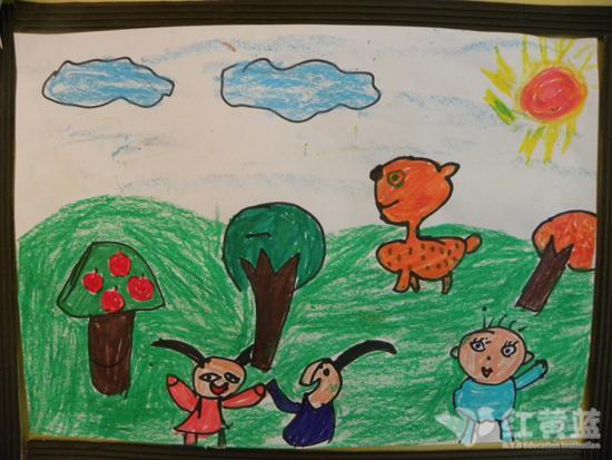 北京的春天儿童画
