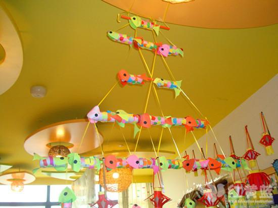 幼儿园鸡蛋托吊饰鱼