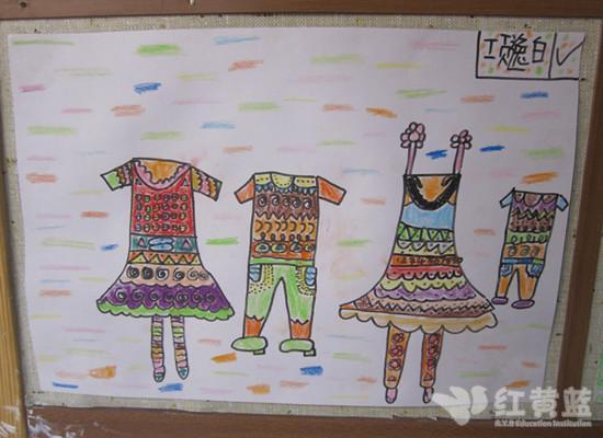 儿童手绘画衣服