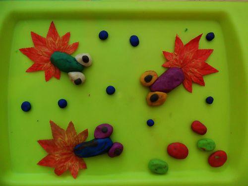 幼儿园泥塑作品图片