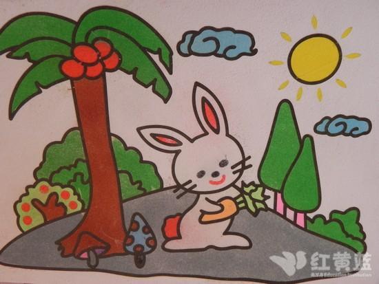 可爱的小白兔简笔画