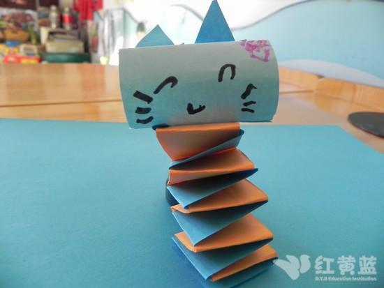 立体手工制作——小花猫