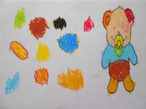 幼儿可爱人物情景画