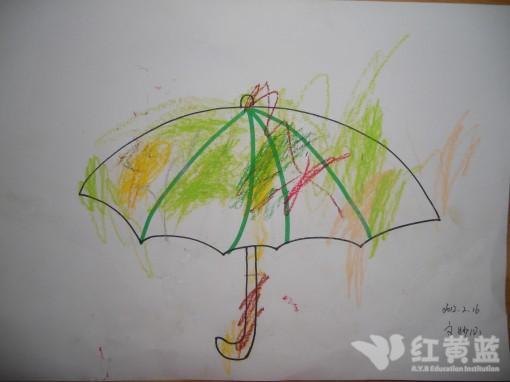简单的儿童画雨伞