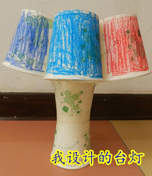 纸杯不带电台灯制作方法图解
