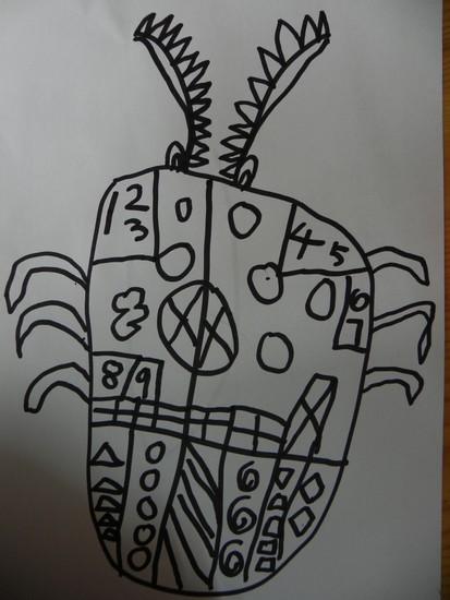 黑白线描创意装饰画 动物黑白线描画范画