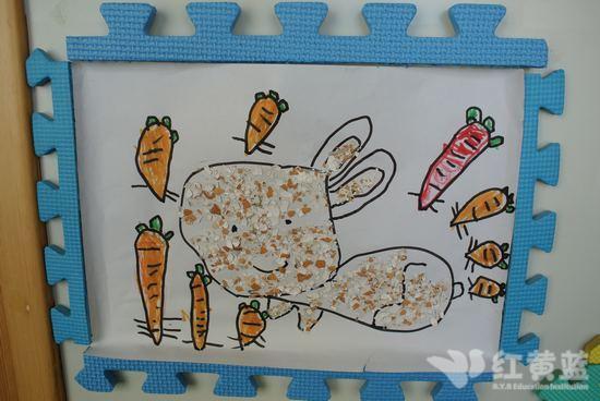 蛋壳画——小白兔
