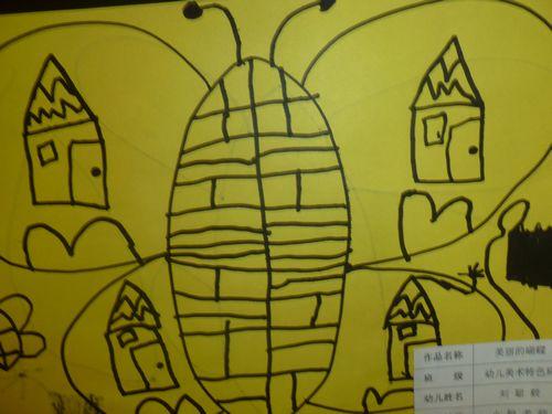 美术考级班幼儿作品 美丽的蝴蝶