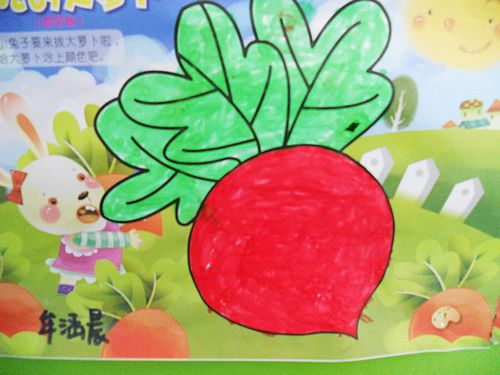 蔬菜儿童画图片