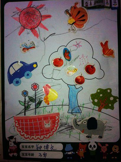 孩子们的创意画图片
