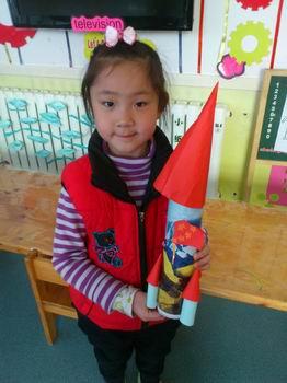 春之都园海狮二班手工作品----火箭