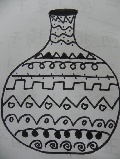 线描瓷器花纹图片