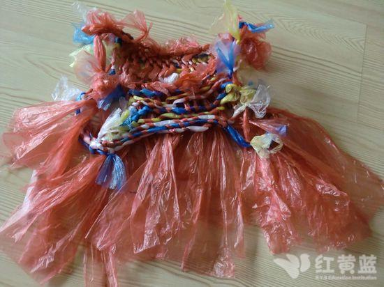 塑料袋做幼儿服装图片