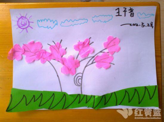 桃花树儿童画法