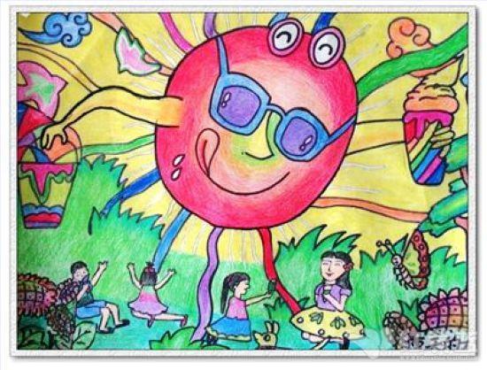 太阳宝宝儿童画