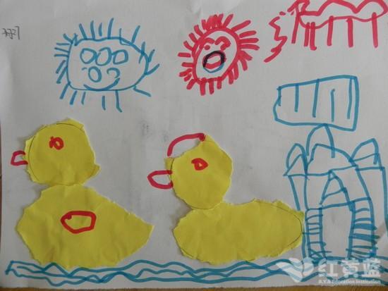 暑假游泳儿童图画