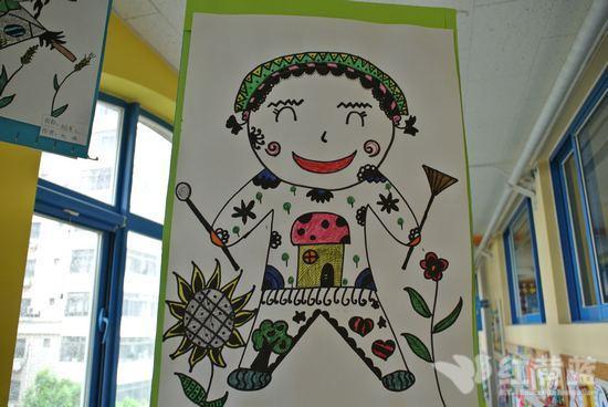 幼儿园黑白线描画
