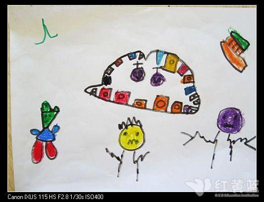 我爱牙齿儿童画