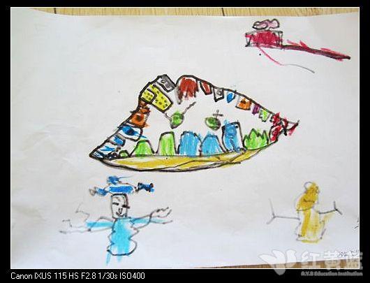 我们的牙齿儿童画
