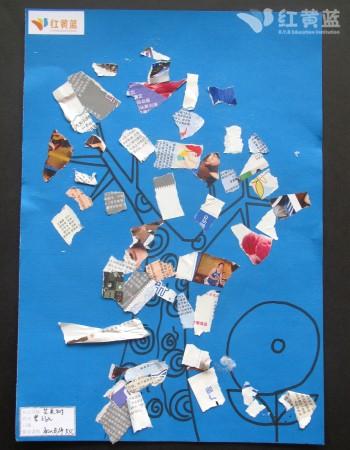 创意撕纸贴画—曹子欧