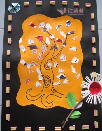 幼儿园大班撕纸贴画 幼儿园大班剪纸贴画 幼儿园创意手工